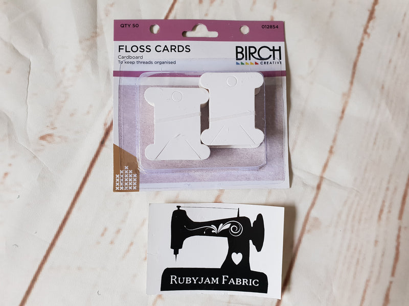 Birch Floss Cards, cardboard, pack of 50
