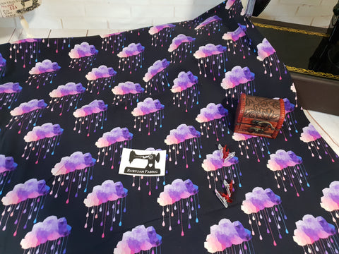 Rainy Nights - cotton lycra - 150cm wide