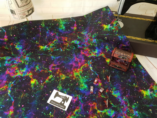 Nebula Galaxy - cotton lycra - 150cm wide