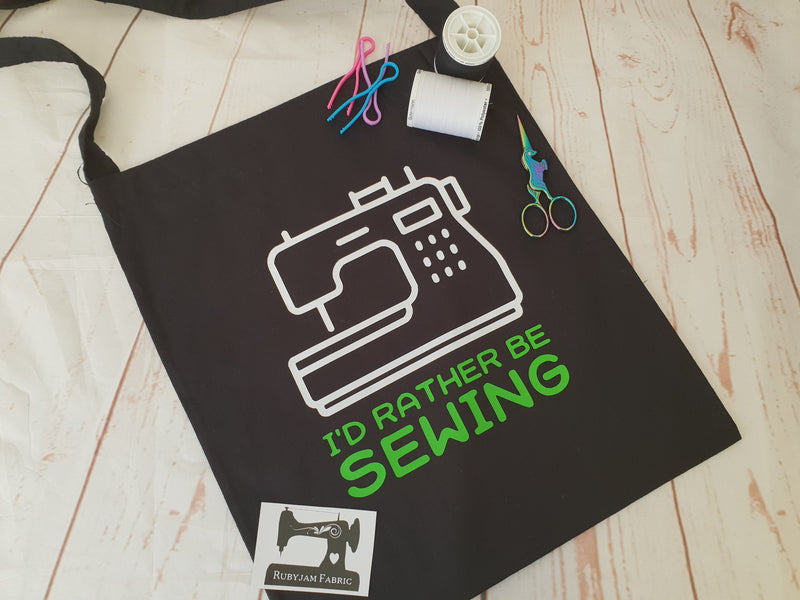 Rather Be Sewing - Green - Tote Bag