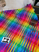 Geo Rainbow - cotton lycra - 150cm wide