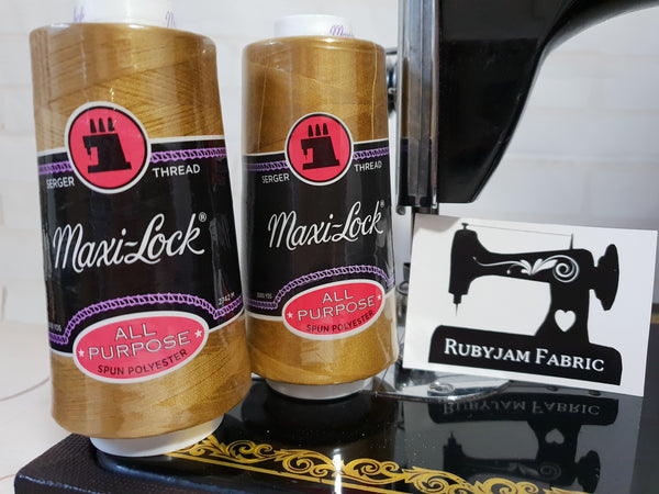 Maxi-Lock All Purpose Thread - Brass