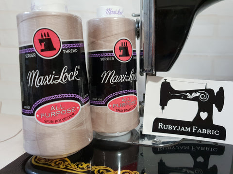 Maxi-Lock All Purpose Thread - Beige