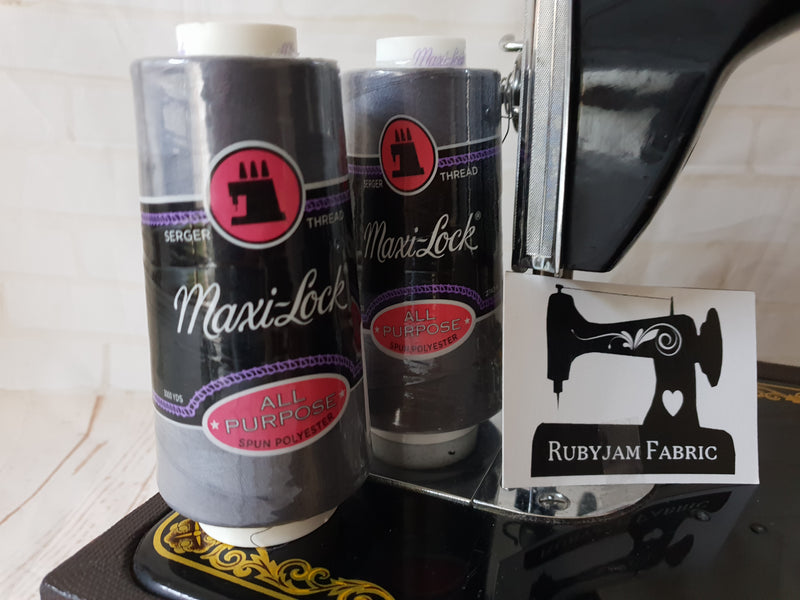 Maxi-Lock All Purpose Thread - Dark Grey