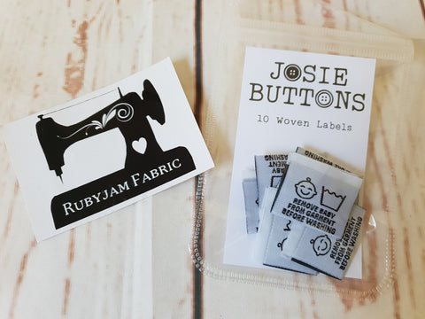 Remove Baby from Garment - Labels by Josie Buttons