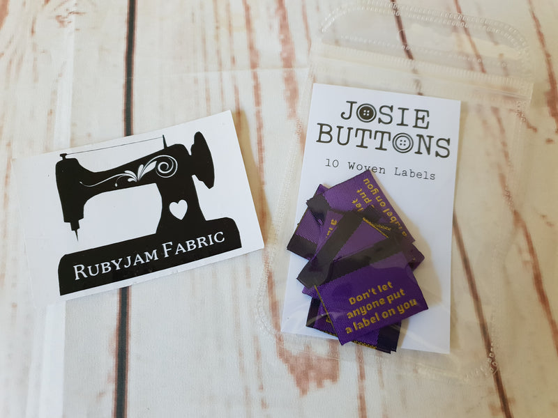 Don't Let Anyone Put a Label on You - Purple - Labels by Josie Buttons