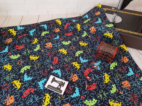 Arcade Games - cotton lycra - 150cm wide