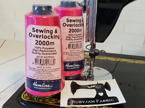 Hemline Overlocker thread, hot pink, 2000M - clearance