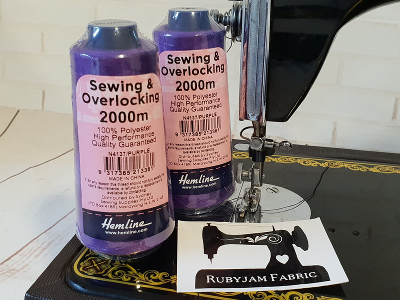 Hemline Overlocker thread, purple, 2000M - clearance