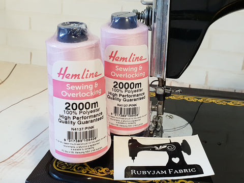 Hemline Overlocker thread, light pink, 2000M - clearance