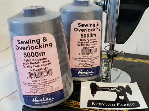 Hemline Overlocker thread, grey, 5000M - clearance