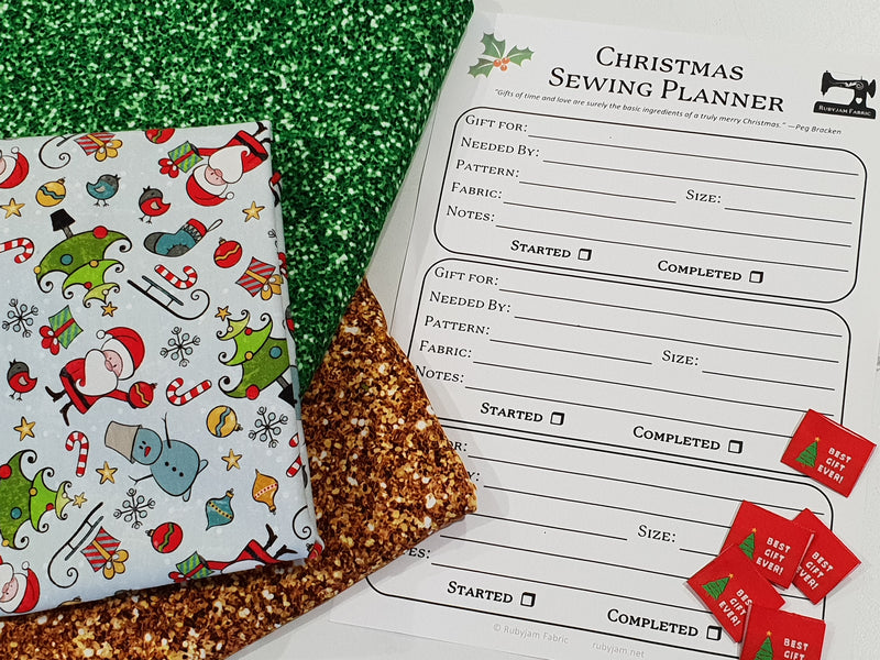 Rubyjam Fabric - Christmas Sewing Planner
