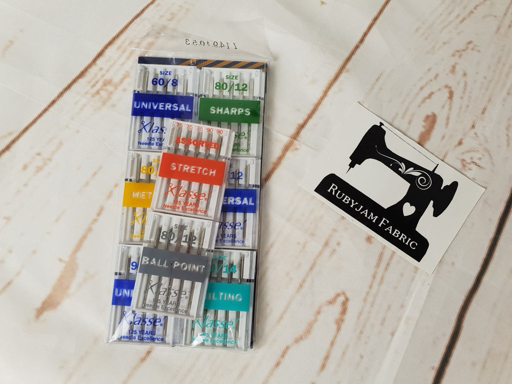 Bulk Pack - Klasse Sewing Machine Needles - Assorted Sizes