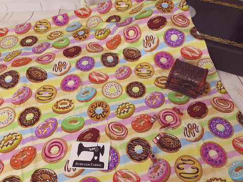 Donuts - cotton lycra - 150cm wide