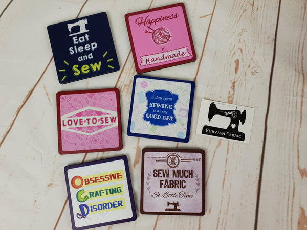 Sewing Theme Drink Coasters - clearance