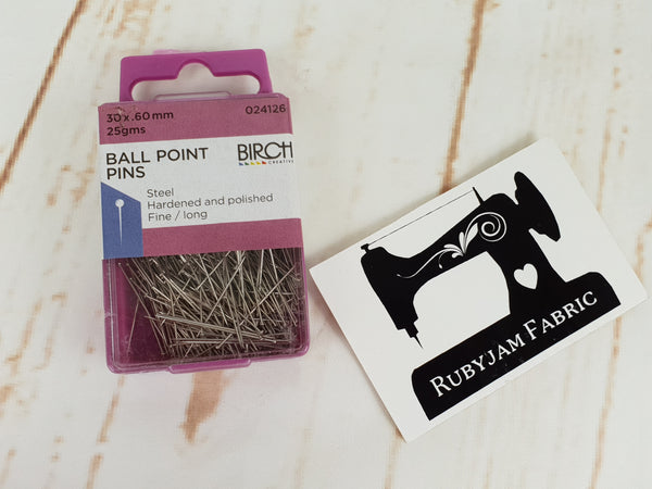 Birch Ball Point Pins