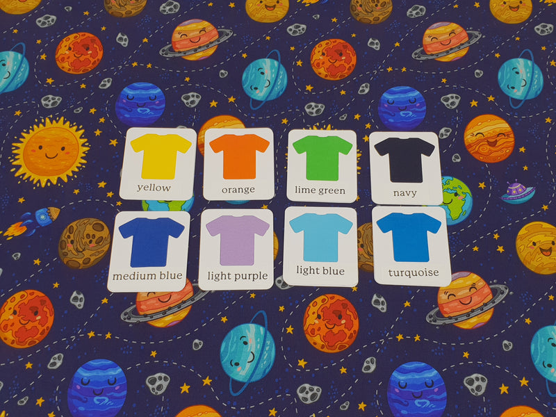 Happy Planets - cotton lycra - 150cm wide