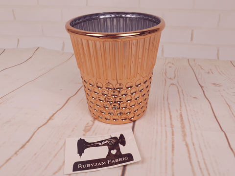 Hemline Rose Gold Thimble - sewing notions storage container