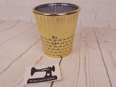Hemline Gold Thimble - sewing notions storage container