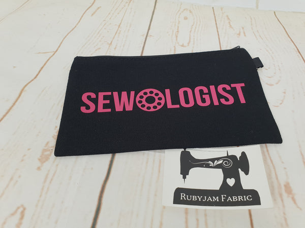 Sewologist - Black - Pink- Zippered Case