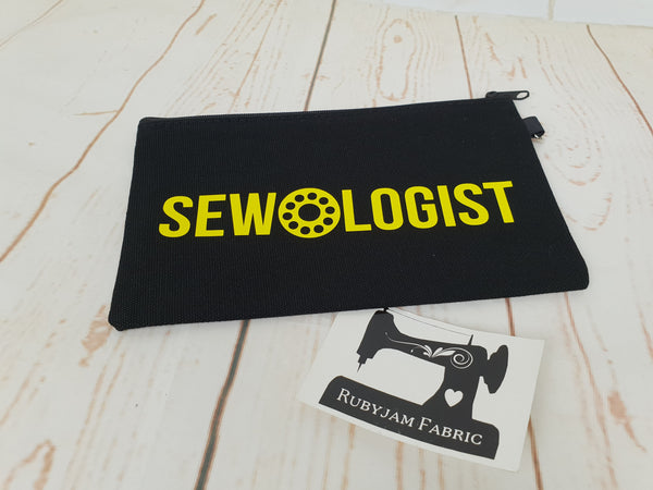 Sewologist - Black - Yellow - Zippered Case