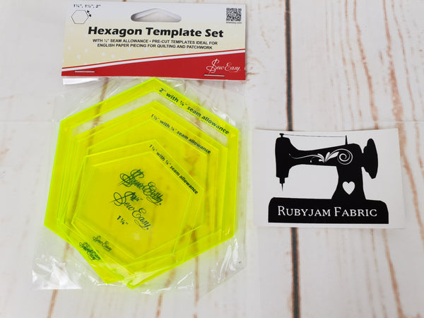 Sew Easy Hexagon Template Set (ER972)