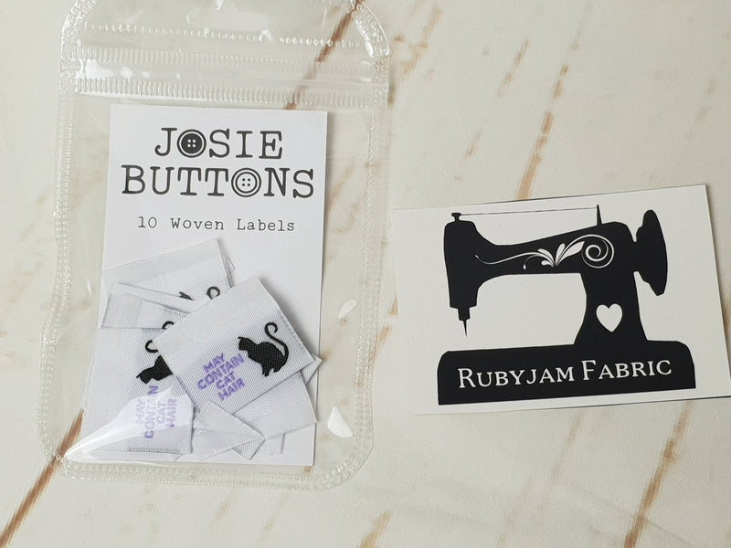 May Contain Cat Hair - Labels by Josie Buttons