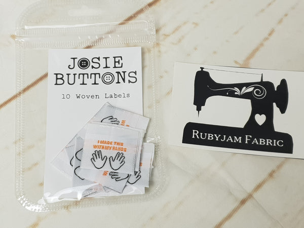 I Made This With My Hands - Labels by Josie Buttons