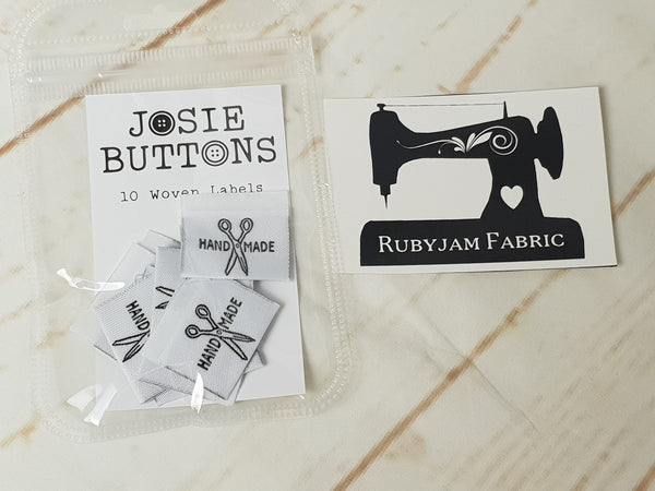 Handmade (Scissors) - Labels by Josie Buttons