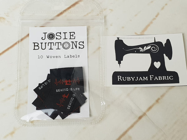 Sewing is Life - Labels by Josie Buttons