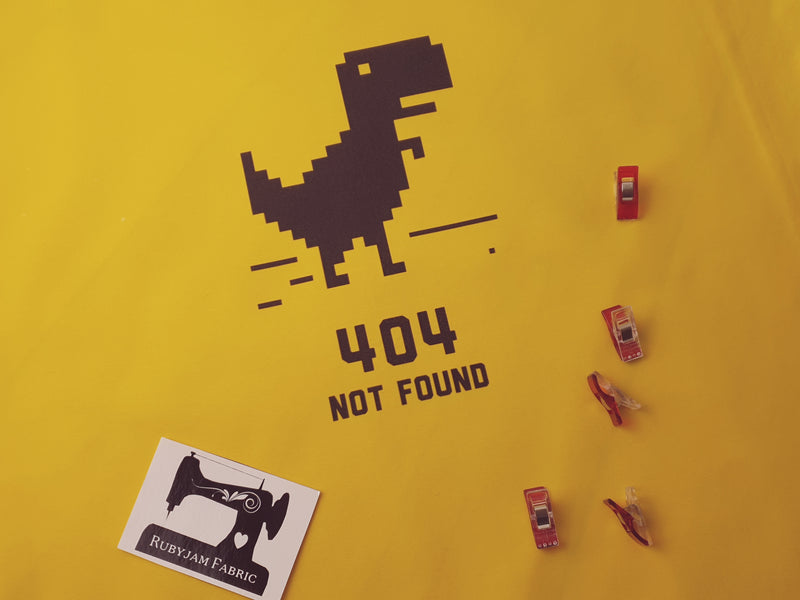 404 Dinosaur - YELLOW - Panels On Demand