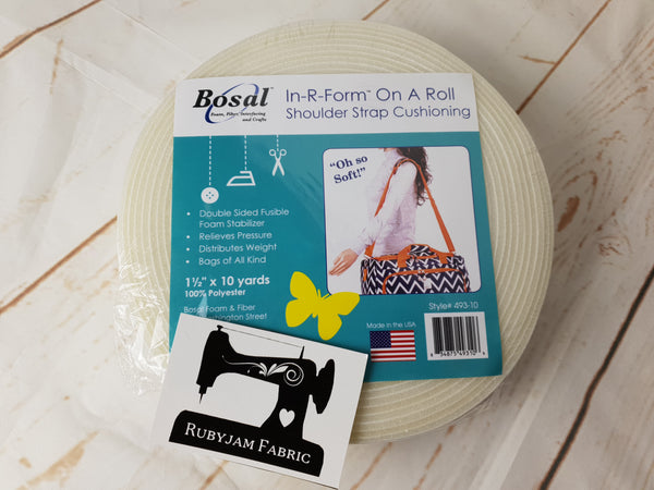 "Bosal In-R-Form Shoulder Strap Cushioning 1.5"" x 10yd - clearance"
