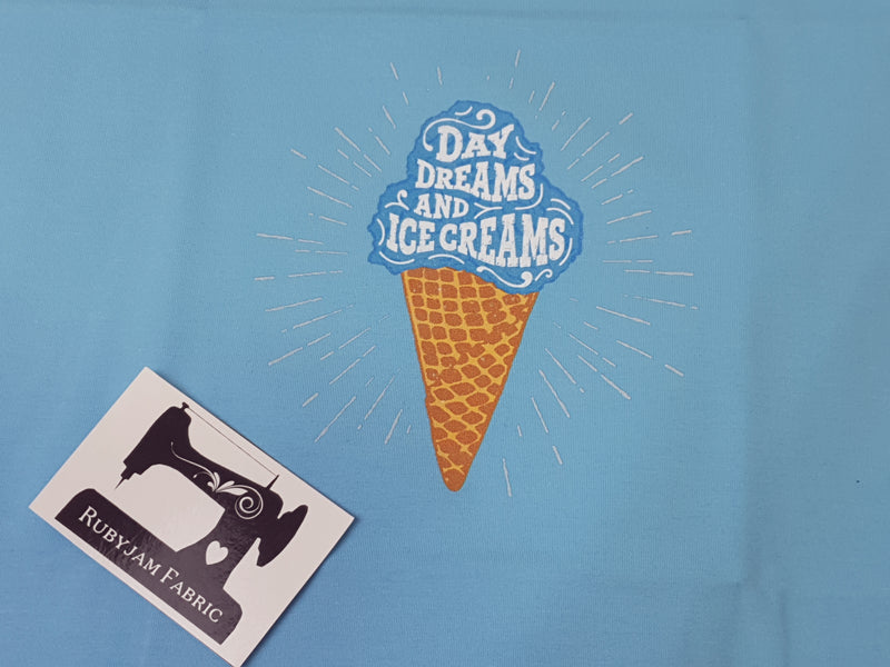 Daydreams and Ice Creams - LIGHT BLUE - Panels On Demand