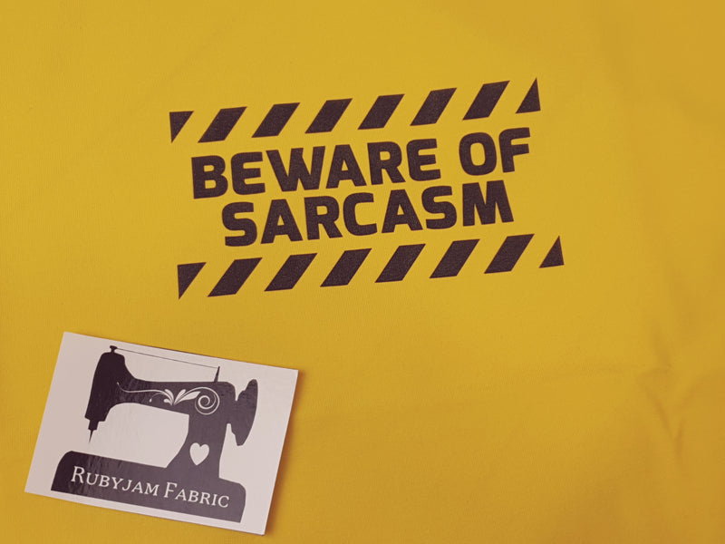 Beware of Sarcasm - YELLOW - Panels On Demand