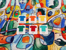 Cubism - cotton lycra - 150cm wide