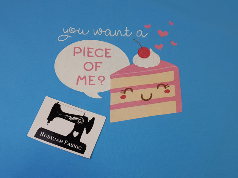 Piece of Me Cake - LIGHT BLUE - Panels On Demand