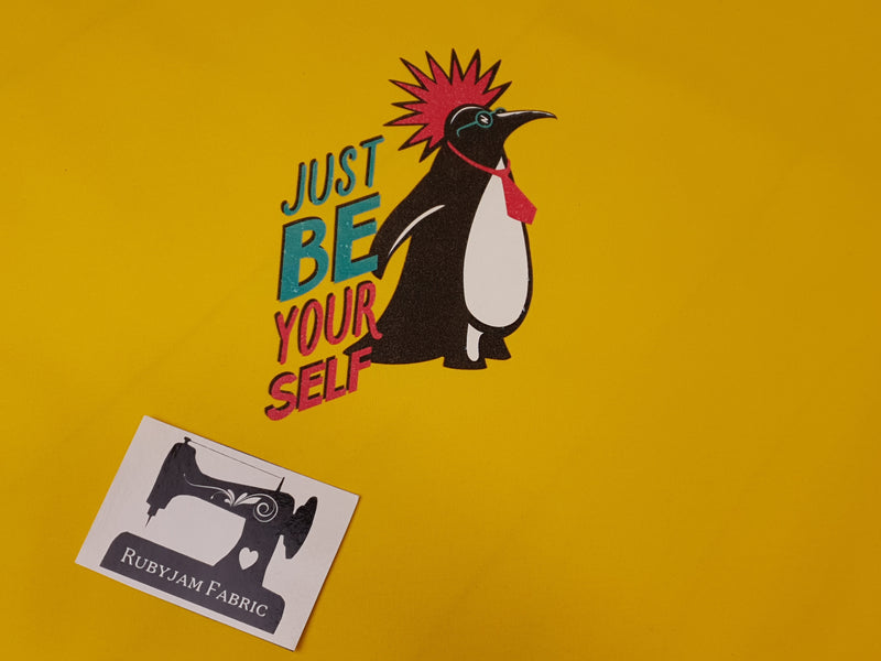 Just Be Yourself (Penguin) - YELLOW - Panels On Demand