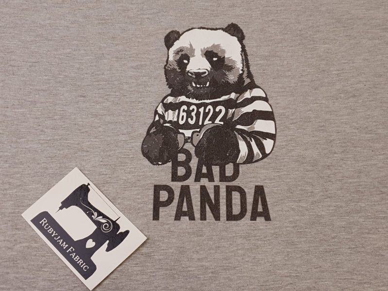 Bad Panda - HEATHER GREY - Panels On Demand