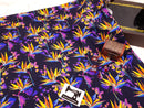 Birds of Paradise BLACK - cotton lycra - 150cm wide