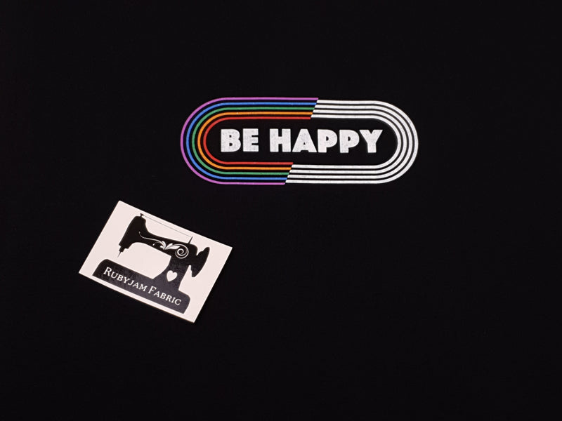 Be Happy - BLACK - Panels On Demand