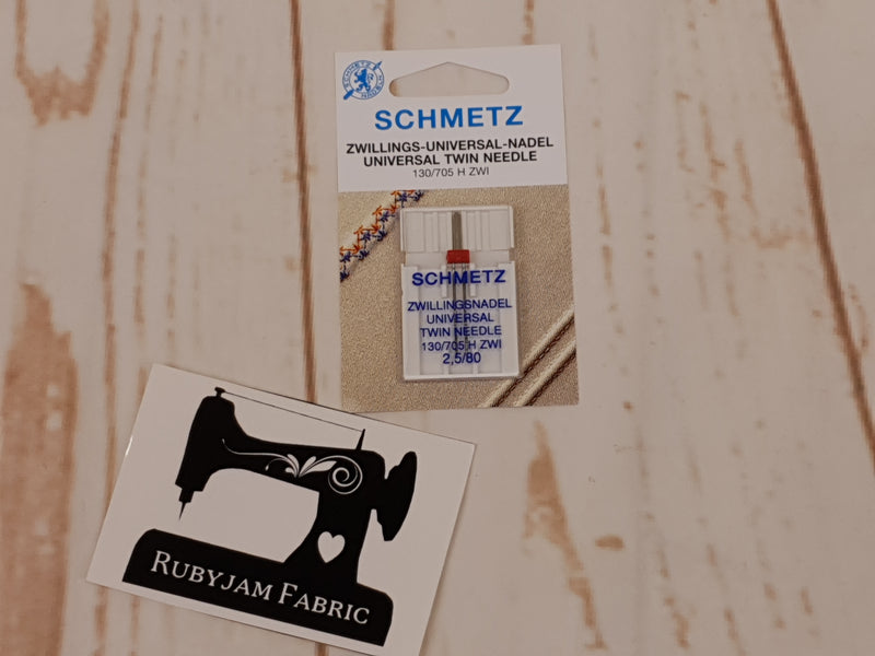 Schmetz Twin Universal Needle Size 80/12 - 2.5mm