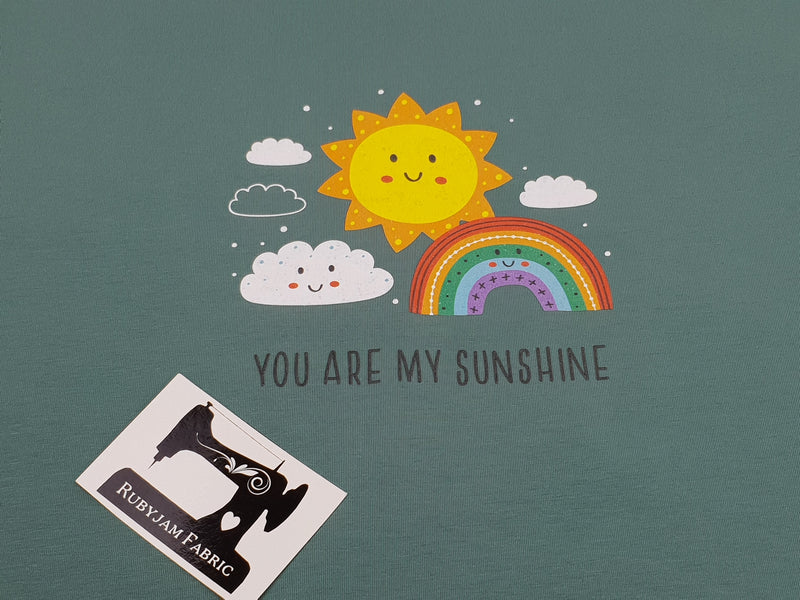 You Are My Sunshine - SAGE GREEN - Panels On Demand
