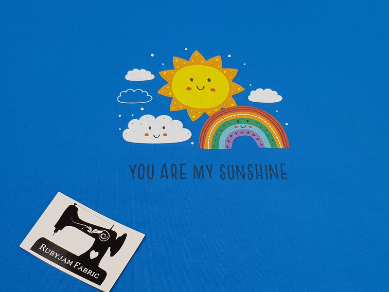 You Are My Sunshine - TURQUOISE - Panels On Demand