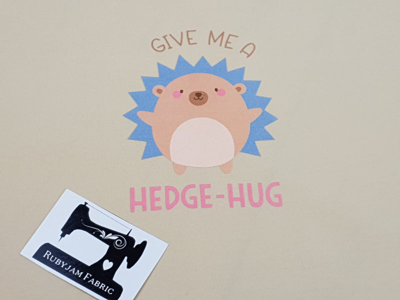 Give Me A Hedge-Hug - SAND BEIGE - Panels On Demand
