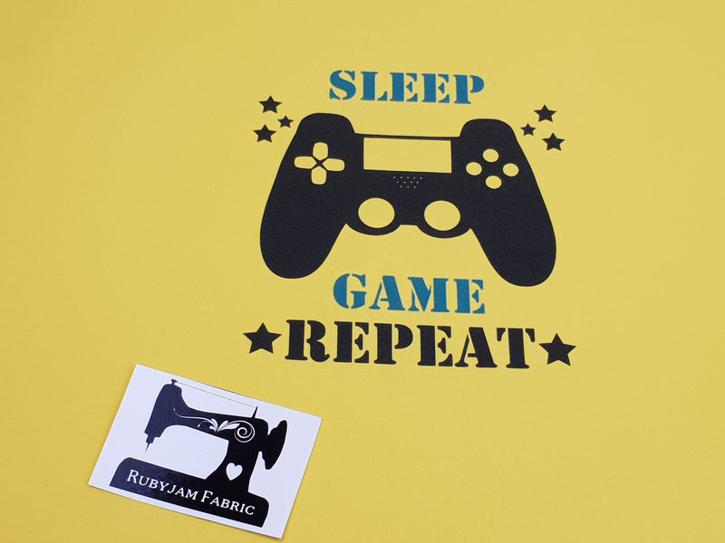 Sleep, Game, Repeat - YELLOW - Panels On Demand