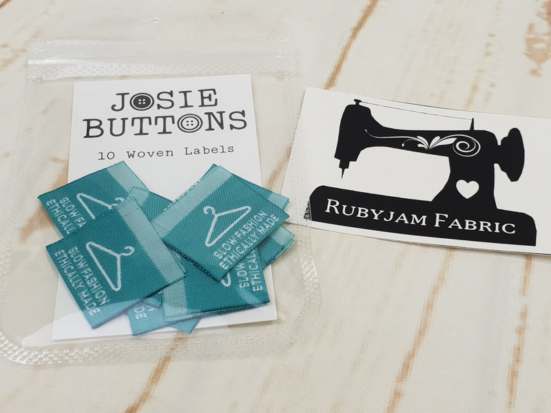 Slow Fashion Ethically Made - Labels by Josie Buttons