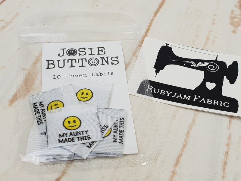 My Aunty Made This - Labels by Josie Buttons