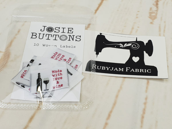 Made With Love and Wine - Labels by Josie Buttons