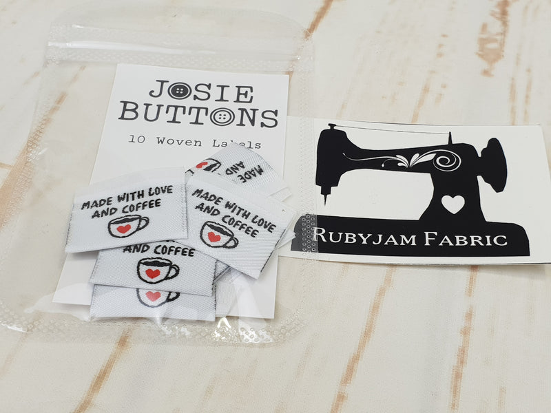 Made With Love and Coffee - Labels by Josie Buttons
