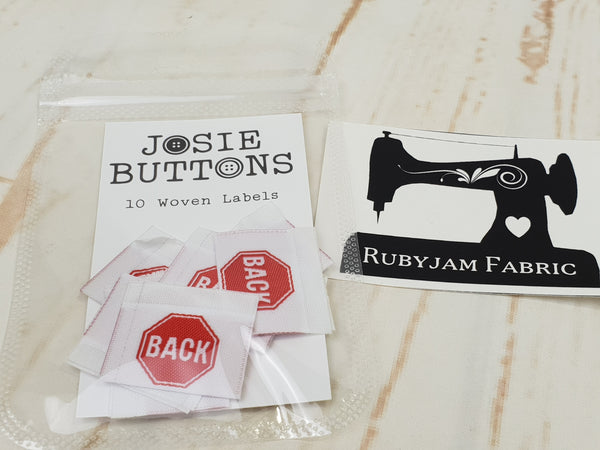BACK (stop sign) - Labels by Josie Buttons